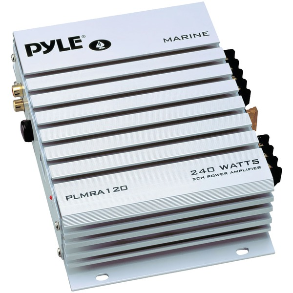 Pyle(R) PLMRA120 Hydra Series Waterproof Marine Class AB Amp (240 Watts, 2-Channels)
