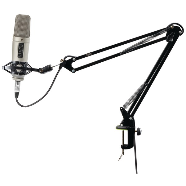 Pyle Pro(R) PMKSH01 Universal Table Clamp Boom Shock Microphone Mount