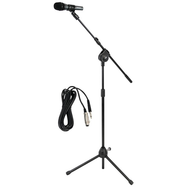 Pyle Pro(R) PMKSM20 Microphone & Tripod Stand with Extending Boom & Microphone Cable Package