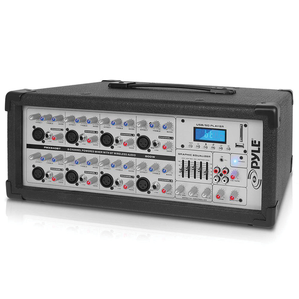 Pyle Pro(R) PMX840BT 8-Channel 800-Watt Bluetooth(R) Mixer
