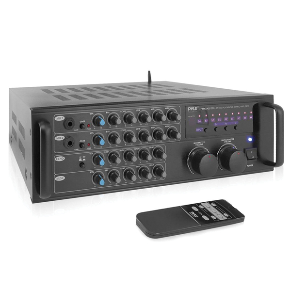 Pyle Pro(R) PMXAKB1000 1,000-Watt Bluetooth(R) Stereo Mixer Karaoke Amp