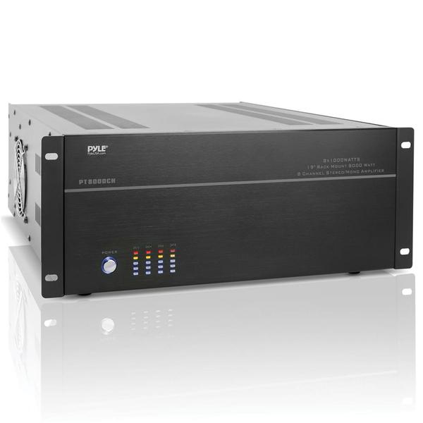 Pyle Home(R) PT8000CH 8-Channel, 8,000-Watt Stereo/Mono Amp