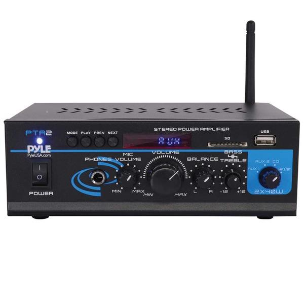 Pyle Pro(R) PTA2 Mini Stereo Power Amp (40W x 2)
