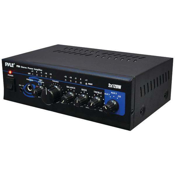 Pyle Home(R) PTA4 120-Watt x 2 Mini Stereo Power Amp