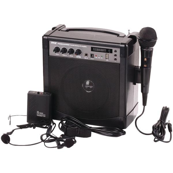 Pyle Pro(R) PWMA220BM Portable Bluetooth(R) Karaoke PA Amp & Microphone System