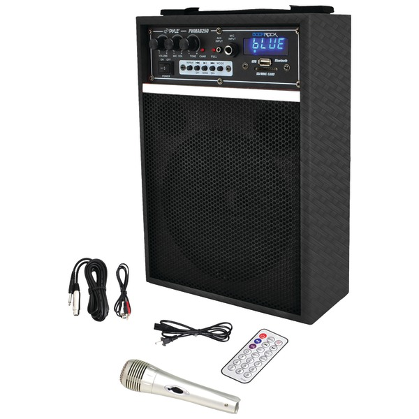 "Pyle Pro(R) PWMAB250BK 300-Watt Bluetooth(R) 6.5"" Portable PA Speaker System"