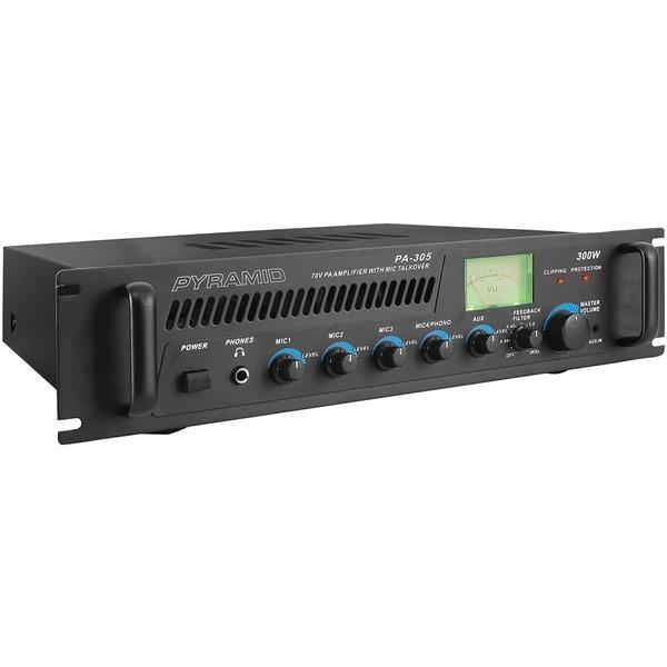 Pyramid(R) Car Audio PA305 Amp with Microphone Input (300 Watt)