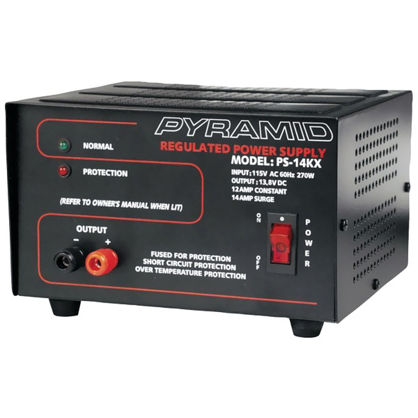 Pyramid(R) Car Audio PS14KX 12-Amp Power Supply