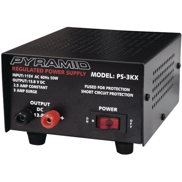 Pyramid(R) Car Audio PS3KX 2.5-Amp Power Supply