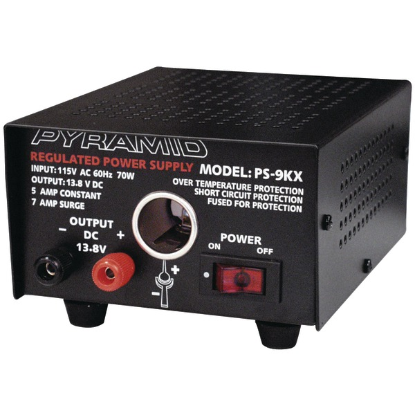 Pyramid(R) Car Audio PS9KX Power Supply (70 Watts Input, 5 Amps Constant)