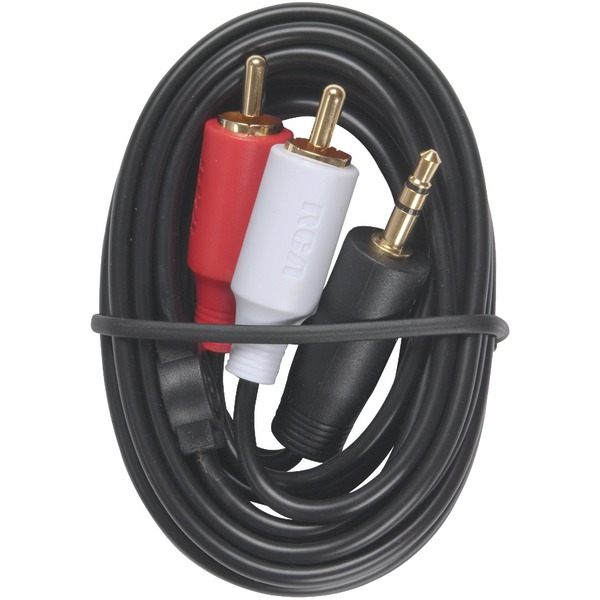 RCA(R) AH205R 3.5mm to 2 RCA Plugs Y-Adapter, 3ft