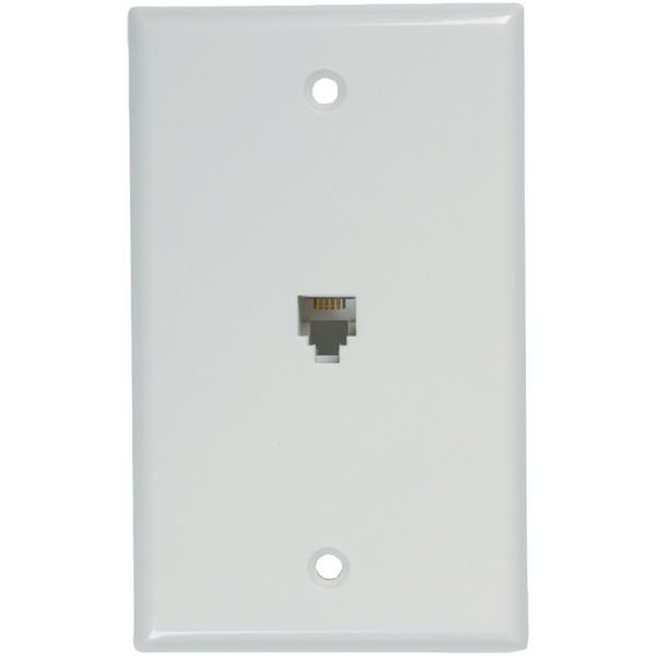 RCA(R) TP247WHR Phone Jack Wall Plate