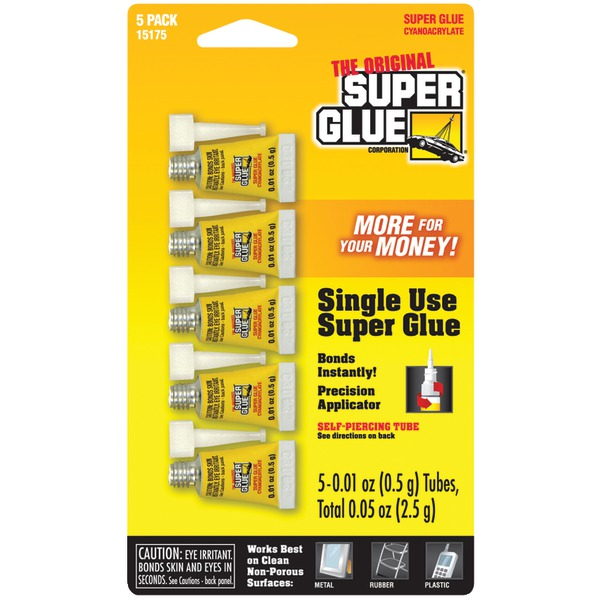 The Original SuperGlue(R) 15175-12 Instant Adhesive Mini Tubes, 5 pk