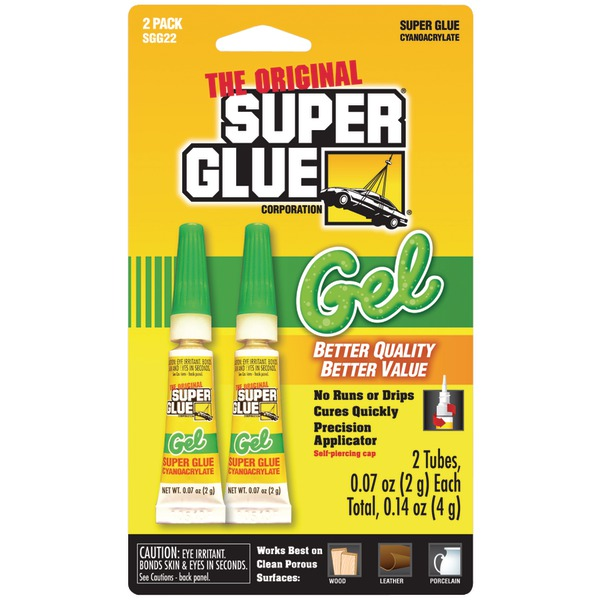 The Original SuperGlue(R) SGG22-12 Thick-Gel Super Glue Tube (Double Pack)