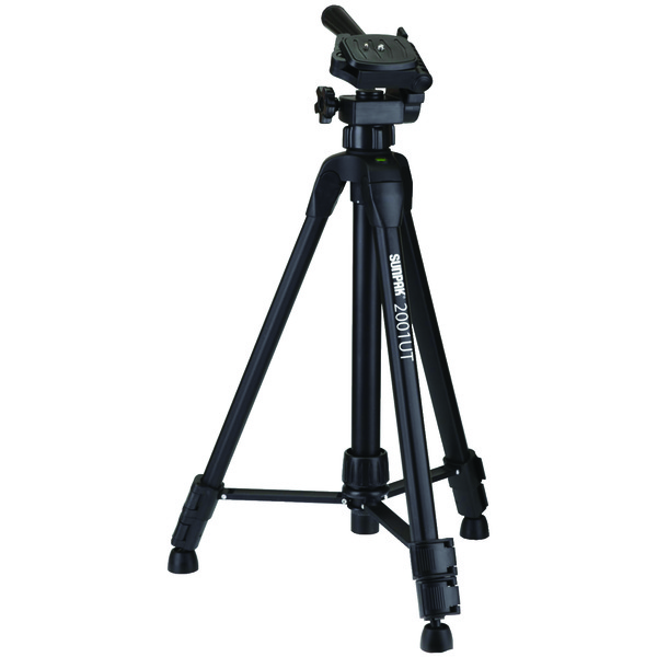 """Sunpak(R) 620-020 Tripod with 3-Way Pan Head (Folded height: 18.5""""; Extended height: 49""""; Weight: 2.3lbs)"""