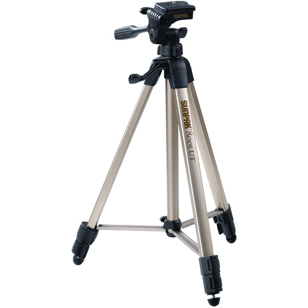 """Sunpak(R) 620-080 Tripod with 3-Way Pan Head (Folded height: 20.8""""; Extended height: 60.2""""; Weight: 2.3lbs; Includes 2nd quick-release plate)"""