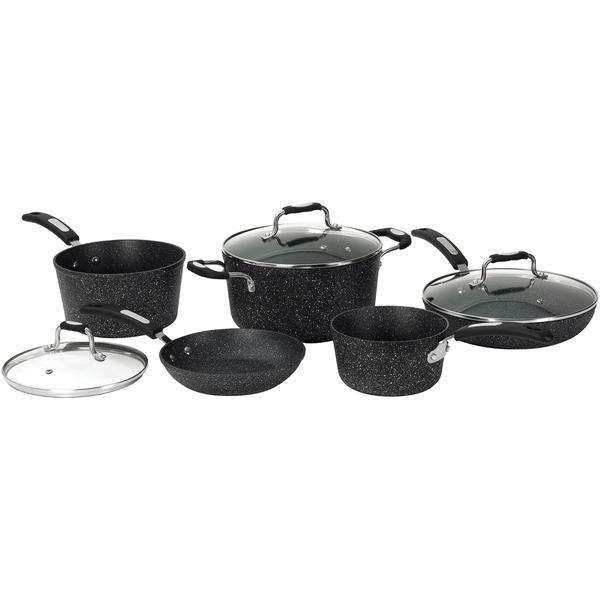 THE ROCK(TM) by Starfrit(R) 030930-001-0000 THE ROCK(TM) by Starfrit(R) 10-Piece Cookware Set with Bakelite(R) Handles