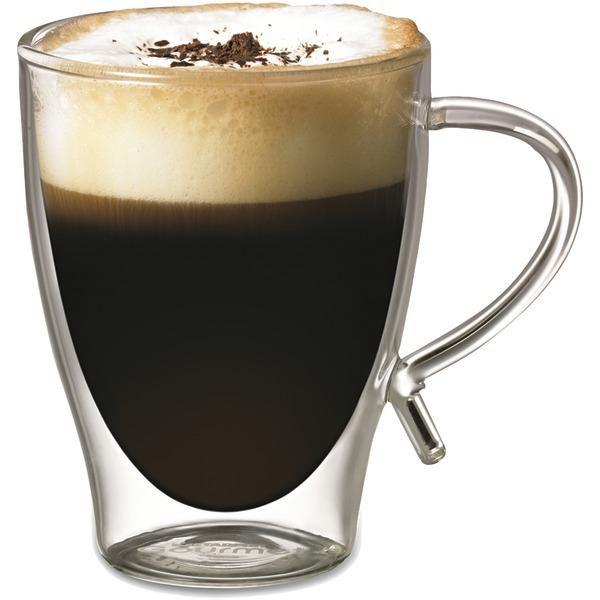 Starfrit(R) 080056-006-FOAM 12-Ounce Double-Wall Glass Coffee Cup