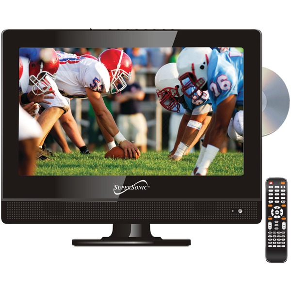 """Supersonic(R) SC-1312 13.3"""" 720p Widescreen LED HDTV/DVD Combination, AC/DC Compatible with RV/Boat"""