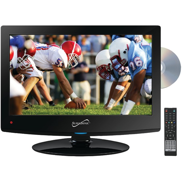 """Supersonic(R) SC-1512 15.6"""" 720p LED TV/DVD Combination, AC/DC Compatible with RV/Boat"""