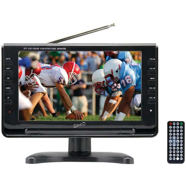 "Supersonic(R) SC-499 9"" TFT Portable Digital LCD TV, AC/DC Compatible with RV/Boat"