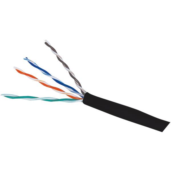 Steren(R) 13909 CAT-5E Cable, 1,000ft (Black)