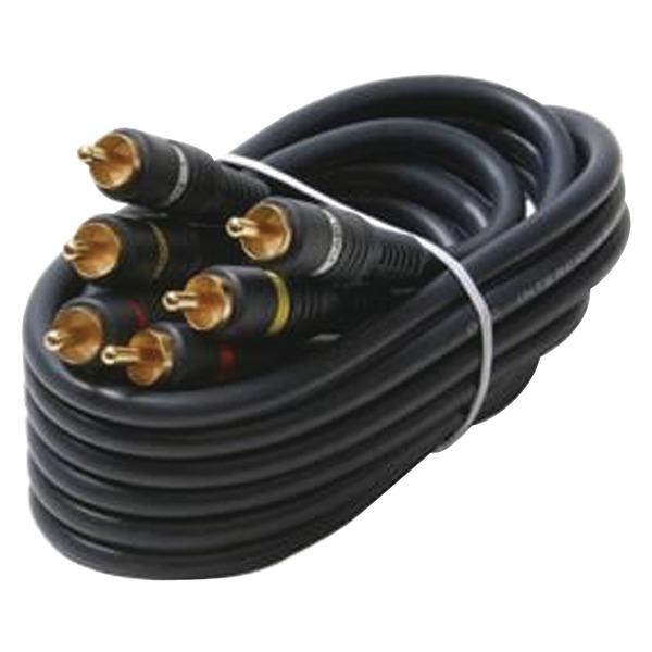 Steren(R) 254-315BL Triple RCA Composite Video Cable (6ft)