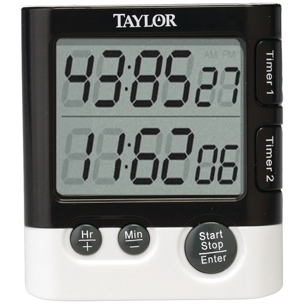 Taylor(R) Precision Products 5828 Dual-Event Digital Timer/Clock