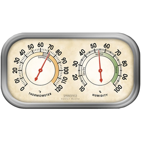 Springfield(R) Precision 90113-1 Humidity Meter & Thermometer Combo