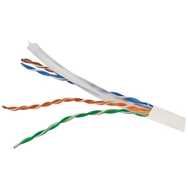 Vericom(R) MBW6U-01444 CAT-6 UTP Solid Riser CMR Cable, 1,000ft (White)