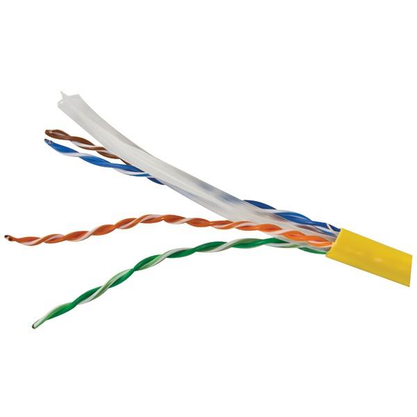 Vericom(R) MBW6U-01445 CAT-6 UTP Solid Riser CMR Cable, 1,000ft (Yellow)