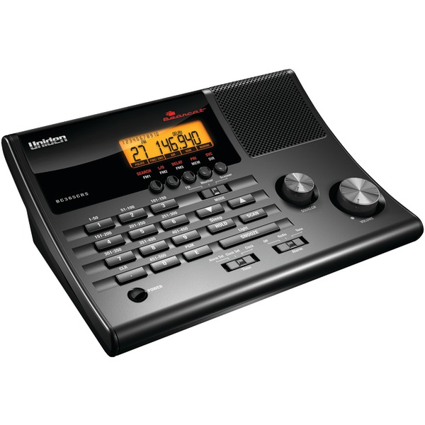 Uniden(R) BC365CRS Alarm Clock 500-Channel Radio Scanner with Weather Alert