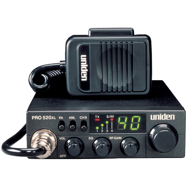 Uniden(R) PRO520XL 40-Channel 4-Watt Compact CB Radio