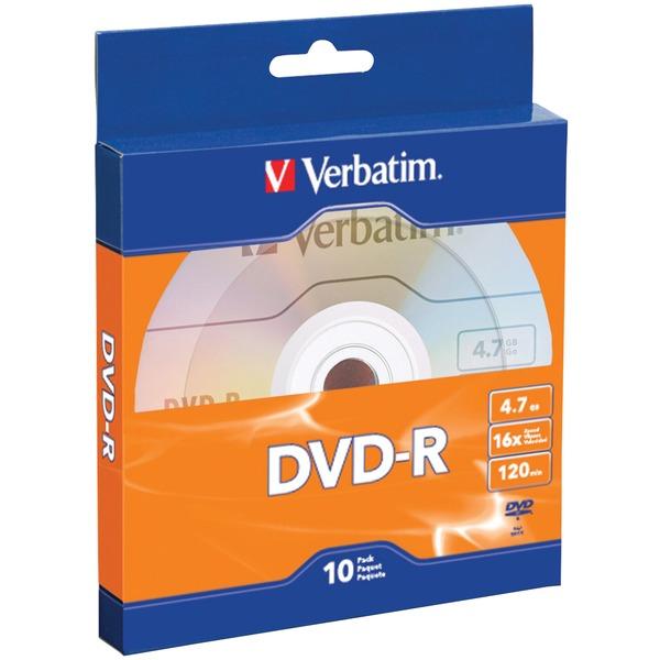 Verbatim(R) 97957 4.7GB 120-Minute 16x DVD-Rs, 10 pk