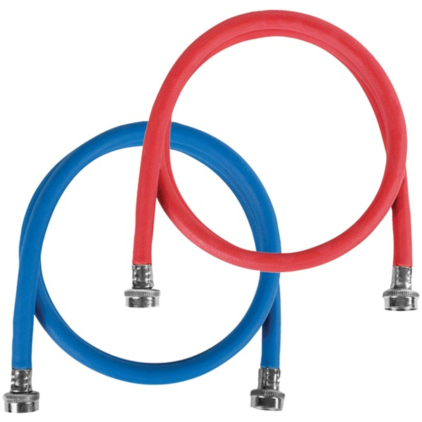Certified Appliance Accessories(R) WM48RBR2PK 2 pk Red/Blue EPDM Washing Machine Hoses, 4ft